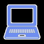 icon computer bleu